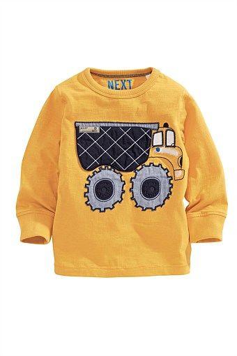 Next Yellow Applique Long Sleeve T-Shirt (3mths-6yrs)