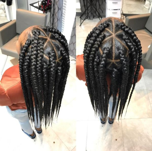Jumbo Box Braids are 1 of 7 throwback styles making a comeback! Check out the full article http://voiceofhair.com/7-throwback-styles-that-are-making-a-comeback/