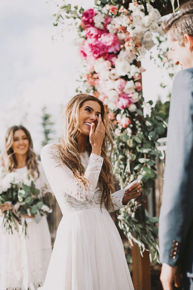 Ceremony Love #bride #groom #love #wedding #floralarch #ceremony #husbandandwife