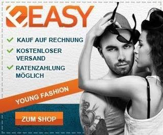 Easy Young Fashion ist der Mode Shop mit einer großen Auswahl an junger Mode und Young Fashion für Damen und Herren gleichermaßen. Der Versand ist deutschlandweit kostenlos und unter vielen anderen Zahlungsarten ist auch Kauf auf Rechnung möglich. Neben dem Schwerpunkt auf Young Fashion sind besonders die günstigen Preise ein wichtiges Kriterium für Neu- und Bestandskunden. Mit Leidenschaft und Gespür suchen wir nach Fashion-News für ein Angebot das Ihnen gefällt. Im Alltag tragbar…