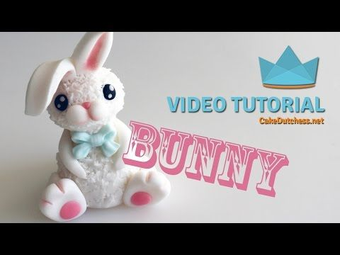 How to make a cute Bunny Cake Topper - Tutorial - YouTube