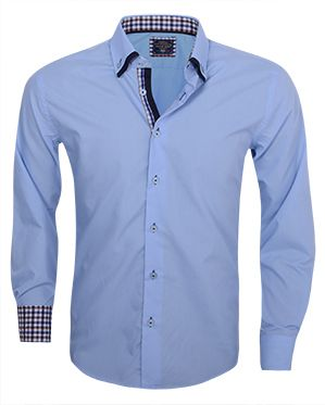 Arya Boy Italiaans overhemd lichtblauw