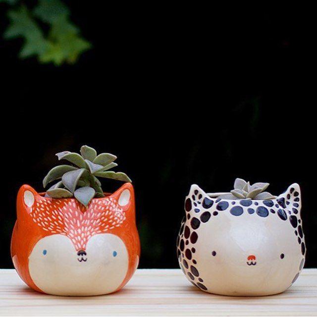 Eeeeeeeeek soooooo cute! Need these little guys in my house. They have little plant afros!!!