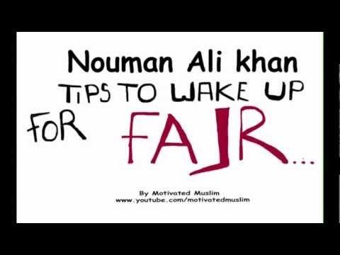 Tips to wake up for Fajr - Nouman Ali Khan - YouTube