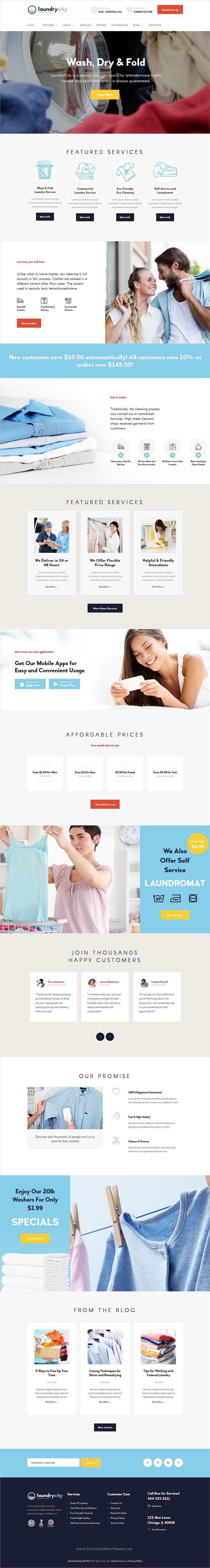 Laundry city is a modern & functional design responsive #WordPress theme for #cleaning and #laundry service business website download now➩ https://themeforest.net/item/laundry-city-dry-cleaning-laundry-service/19452973?ref=Datasata
