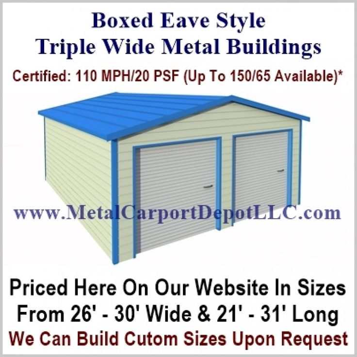 Vertical Roof Style Metal Carports For Sale
