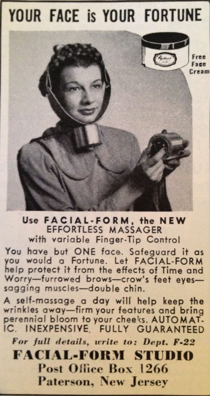 Vintage porn mag adverts Your face is your fortune. Safeguard it with this fingertip-control massager.