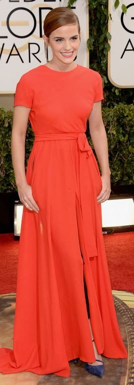 Emma Watson: Earrings and dress – Dior Couture Shoes – Roger Vivier Purse – Edie Parker Rings – Repossi and Anita Ko