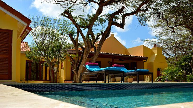 Villa Adelaida is a unique Arubian Cunucu Style house with a contemporary twist. A little gem in the Caribbean. # holidayhome #vacationvilla #aruba  #caribbean villa
