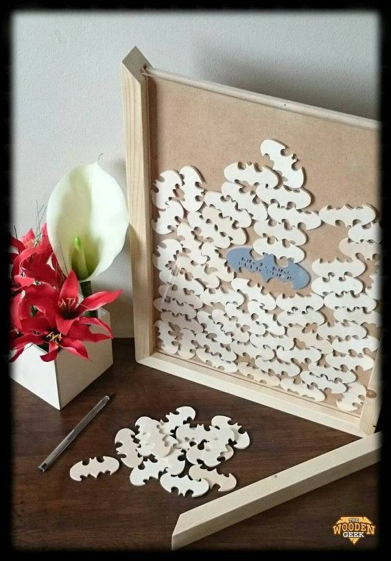 Batman Wedding Drop Box Frame by TheWoodenGeek on Etsy