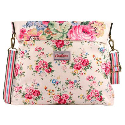 Spray Flowers Reversible Folded Messenger Bag