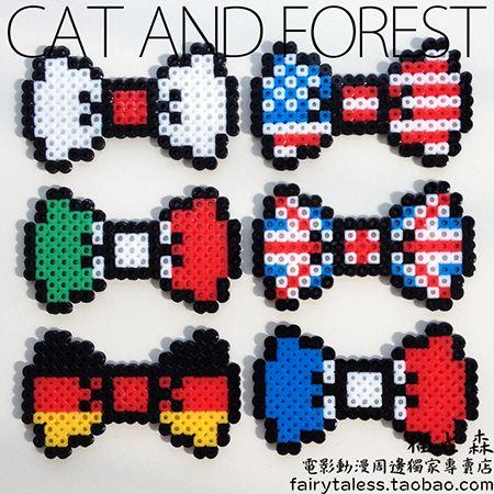 Perler bead pattern sailor moon country ribbon japan amerika engeland italie duitslan frankrijk