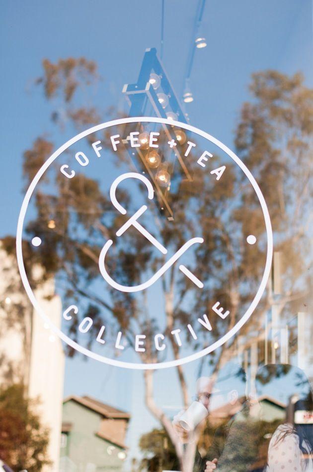 Coffee + Tea & Collective, San Diego 可愛いロゴデザイン!
