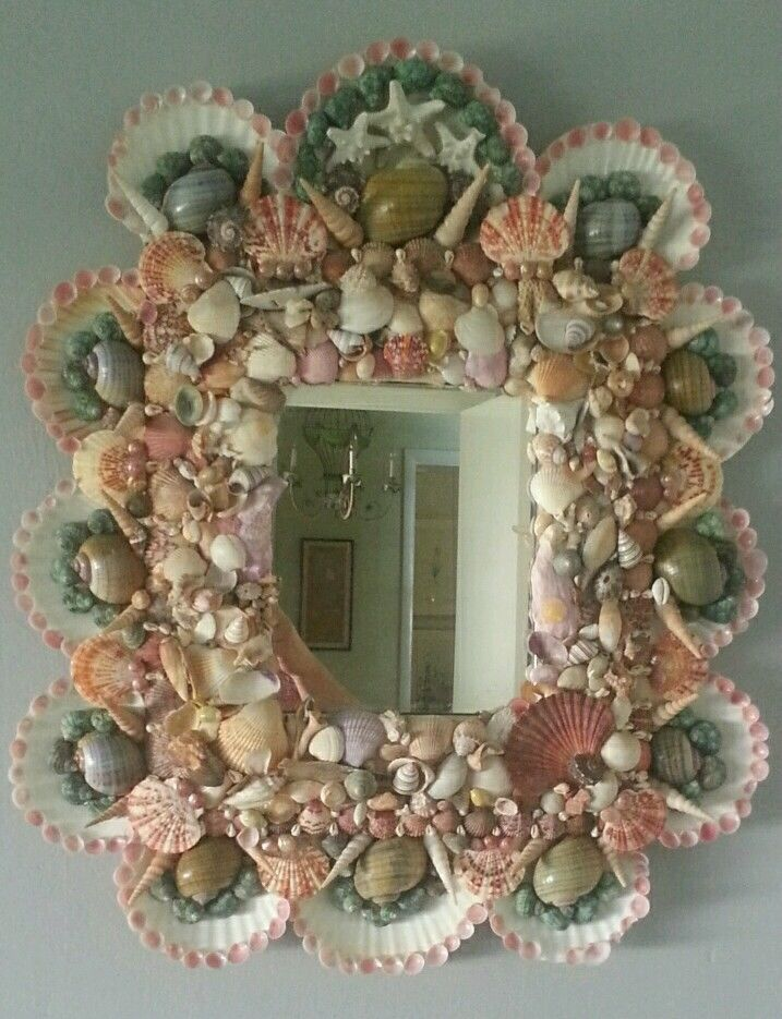 128 best  Seashell Mirrors  images on Pinterest