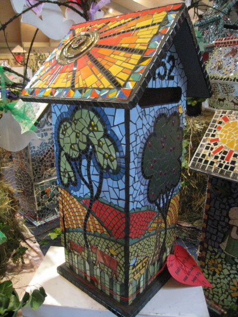 164 Best Images About Mosaic Birdbaths Birdhouses On