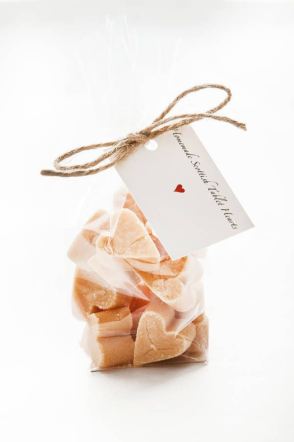 heart shaped fudge favours