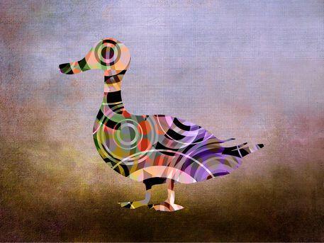 'Madame Goose - P8-1' von Pia Schneider bei artflakes.com als Poster oder Kunstdruck #kunstdruck #tiere #surrealistisch #modern