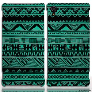 Housse xperia z2 Cuir Tribal - Etui portefeuille telephone. #Housse #coque #sony #xperia #z2 #case #cover #phone #telephone #portable #portefeuille #cuir #etui #azteque