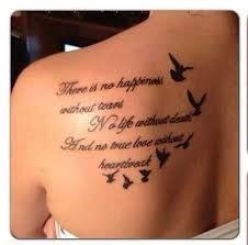 Image result for stars *vines* birds* back over the shoulder tattoo* kids names