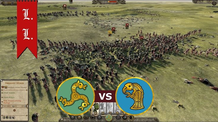 Attila Total War - Online Battle - 1vs1 Franks vs Jutes (#113)