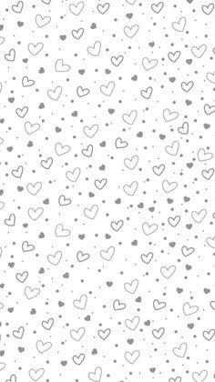 Grey white mini confetti hearts iphone phone wallpaper lock screen background