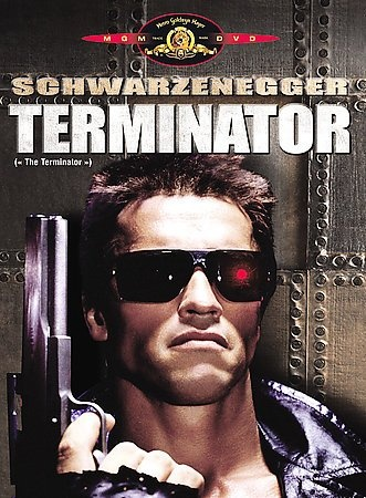 The Terminator [PN1995.9.S26 T475 2006]A robotic assassin from a post-apocalyptic future travels back in time to eliminate a waitress, whose son will grow up and lead humanity in a war against machines. Director:James Cameron Writers:James Cameron, Gale Anne Hurd, Stars:Arnold Schwarzenegger, Michael Biehn, Linda Hamilton
