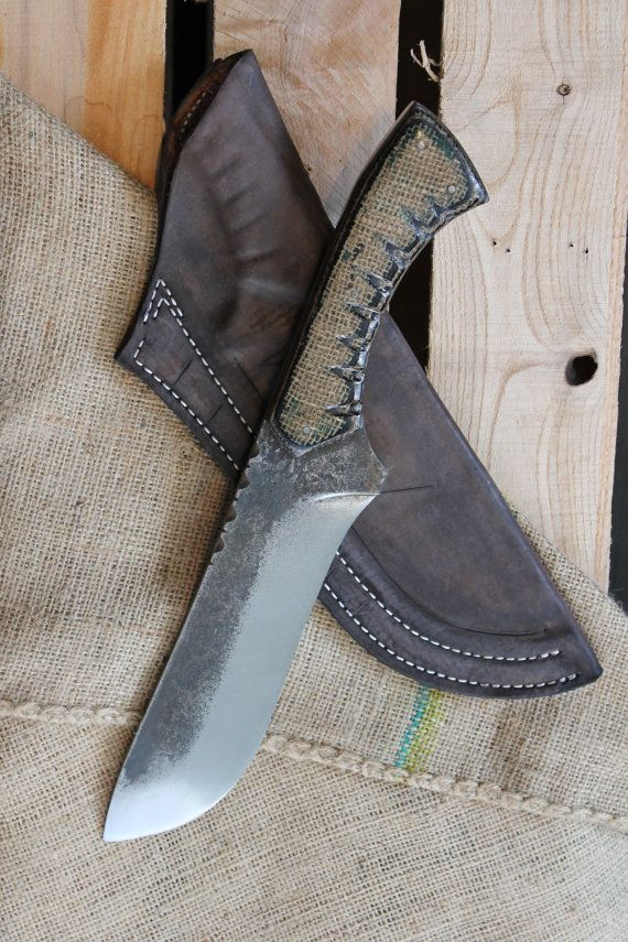 8 inch blade 14 1/2 inch over all 5160 Leaf Spring by AHKnives