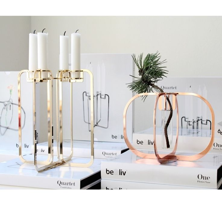 Quartet Candle holder from be&liv. new to the Uk and only at Cloudberry living. Stunning innovative minimalist designs in striking laser cut metals. 24 carat gold plating. Beauitful & sculptural as well as useful. the perfect gift.