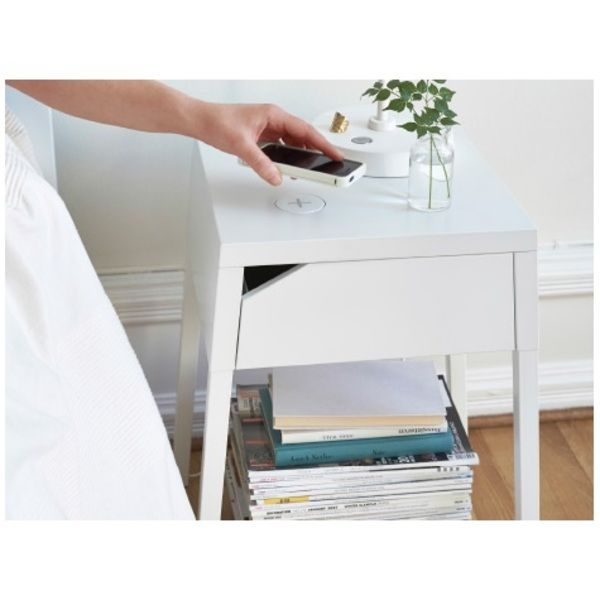 Ikea intergrate wireless charging into their furniture | £50 (bedside table)