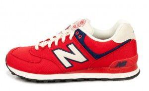 Joma Herren Schuhe New Balance 574 ML574RUR Rot Weiß Schwarz