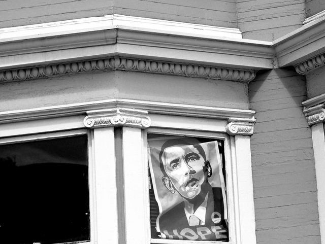 Former Obama Staffers Run for Office in California to Protect His Legacy - Breitbart h ttp://bit.ly/2t2ZbsV via @BreitbartNews Obama poster San Francisco (Son of Groucho / Flickr / CC / Cropped)