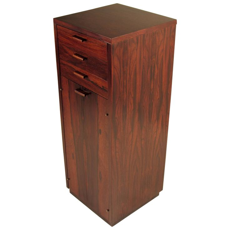 Handsome Rosewood Danish Modern Gentleman's Chest | From a unique collection of antique and modern cabinets at https://www.1stdibs.com/furniture/storage-case-pieces/cabinets/