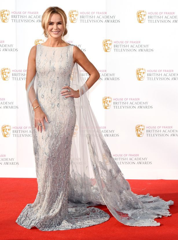 Amanda Holden channels Princess Elsa in flowing gown at the BAFTA TV Awards