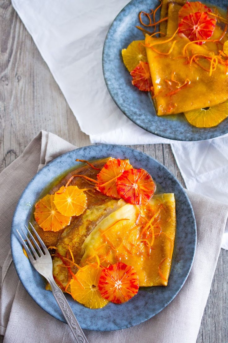 SUGARTOWN: Crêpes Suzette s červeným pomerančem/Blood orange crêpes Suzette