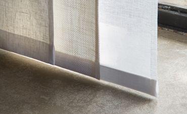 Confection en tissus RAFAEL, LIN et voile lin blanc