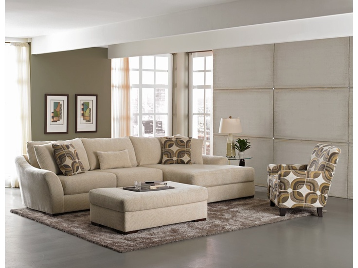 Oasis Cream 2-PC Sectional - Value City Furniture
