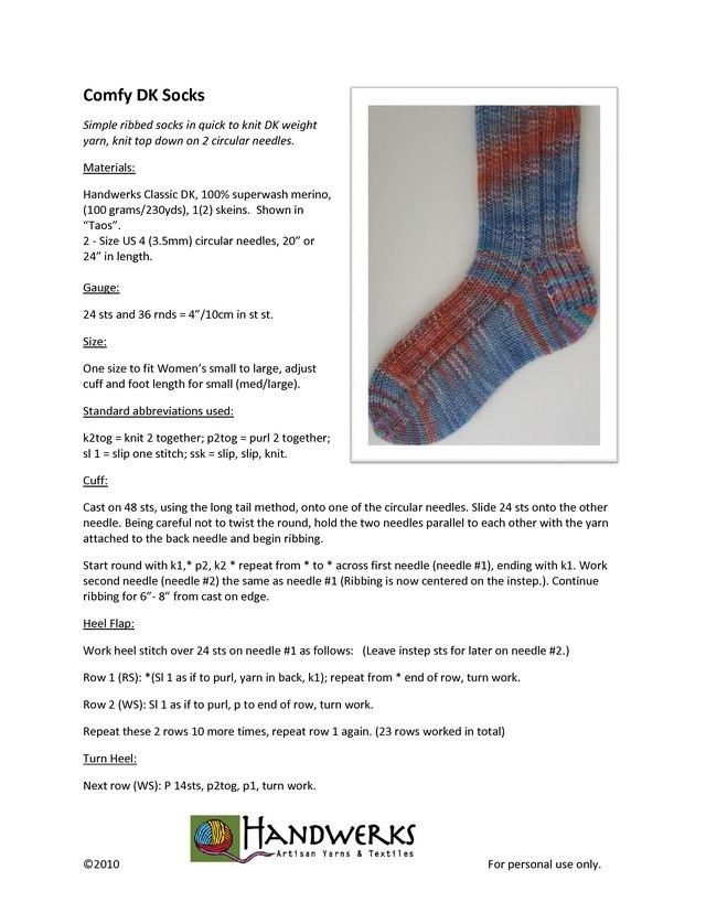 Ravelry Comfy Dk Socks Pattern By Laura Schickli Sock Patterns