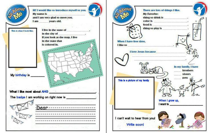 Pen Pal Activity For Kids
