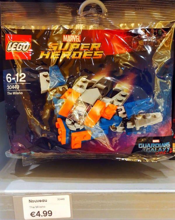 LEGO Marvel 30449 The Milano : vu en vente au LEGO Store de Disney Village: Vous vous souvenez probablement du polybag 30449 The… #LEGO