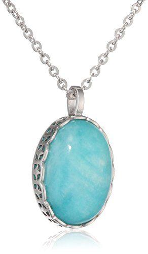 ca-women-Damen-Kette-mit-Anhnger-Oriental-Dreams-925-Silber-rhodiniert-Amazonit-blau
