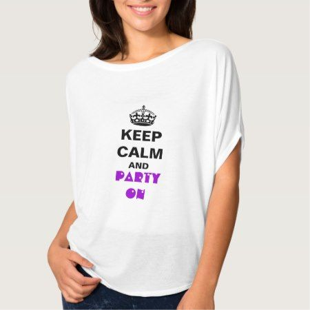 Women's Bella Flowy Circle Top White KEEP CALM - tap, personalize, buy right now!