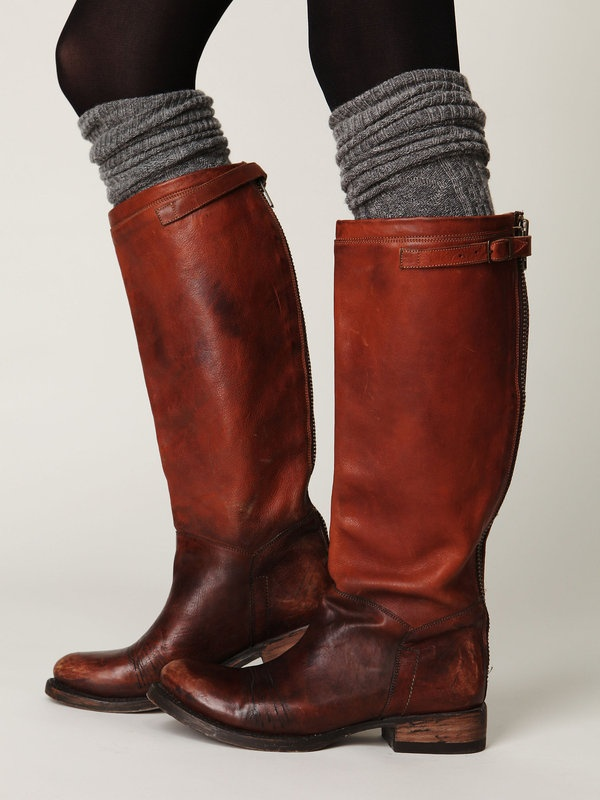 Free People Destroyer Tall Boot... love the color and back zipper, and