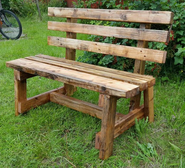 garden bench made by Denis