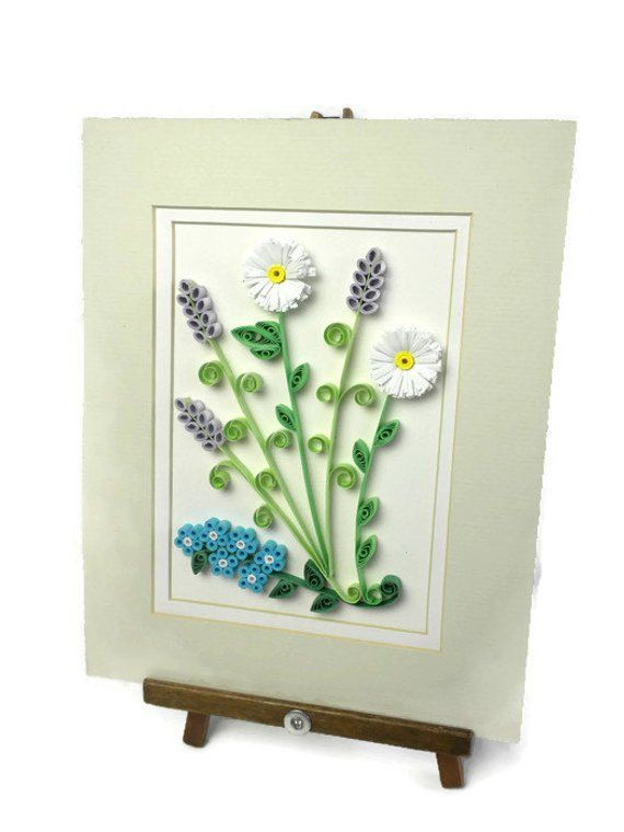 Floral Wall Hanging Flowers Home Decor Quilling Wall Hanging