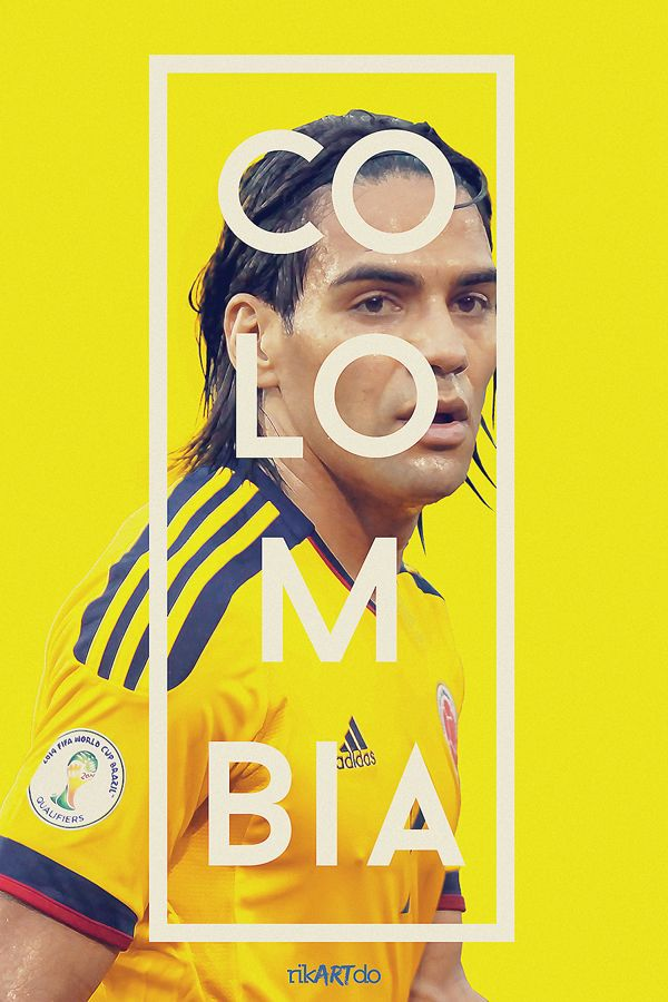FIFA World Cup 2014: Colombia's Radamel Falcao www.footballvideopicture.com