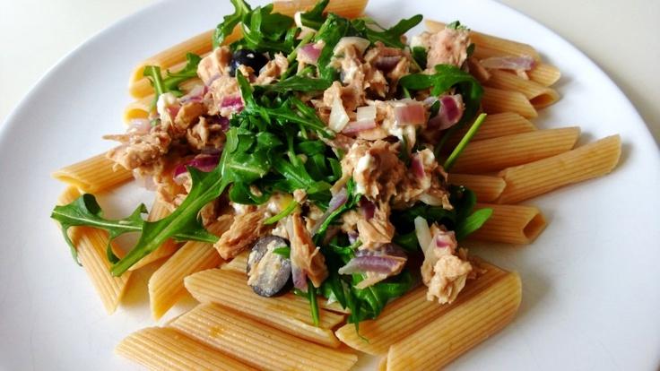 Polskie South Beach: Makaron z tuńczykiem i oliwkami