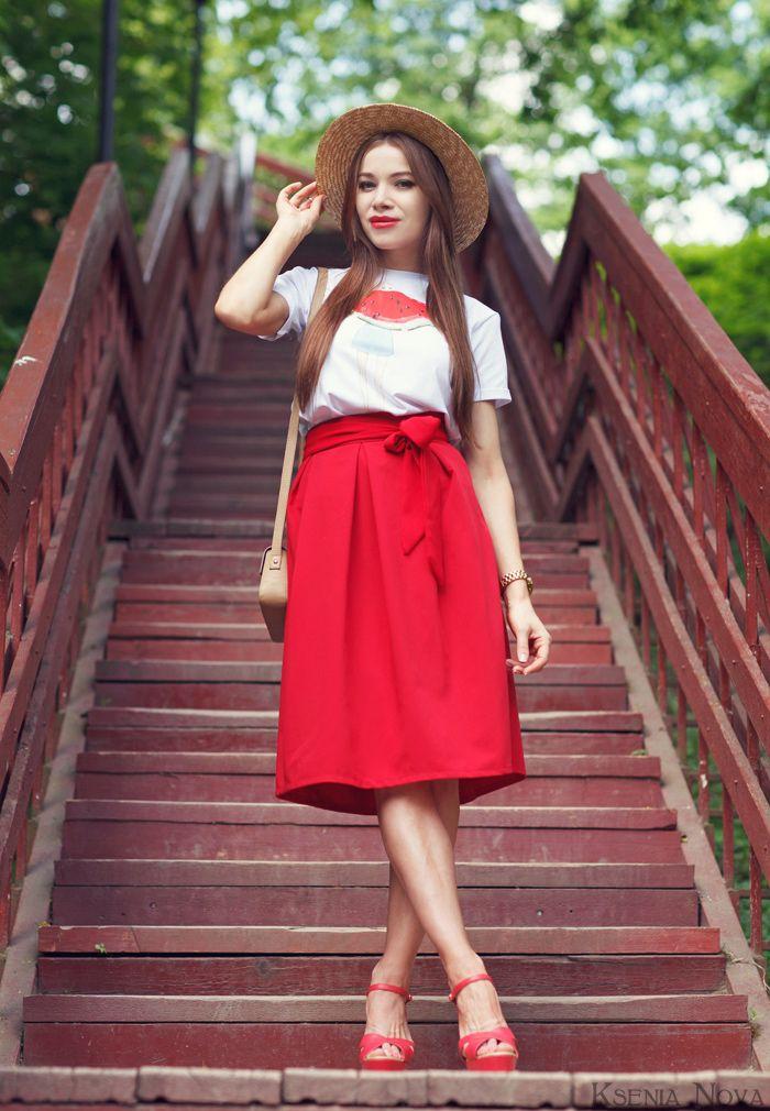 Летний образ с канотье. С чем носить канотье? / How to wear a boater?