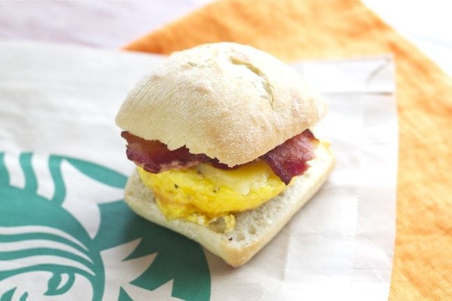 Starbucks Breakfast Sandwiches - Save time and money by making these copycat Starbucks Bacon Breakfast Sandwiches at home.
