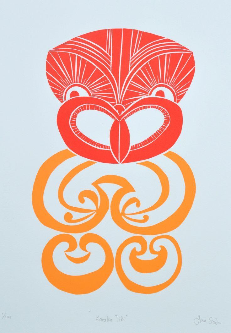 Karaka Tiki print www.anniesmitssandano.com