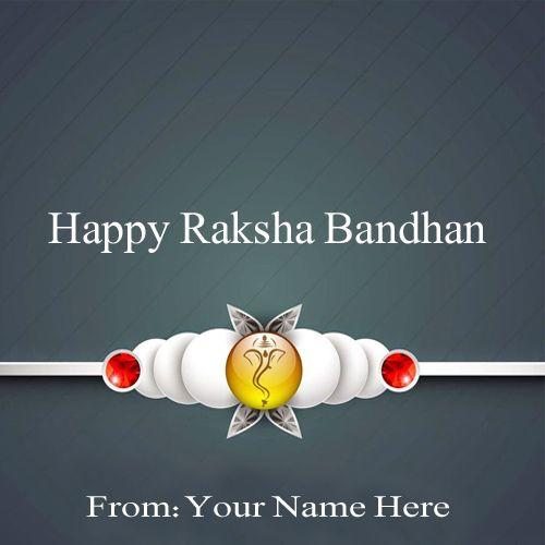 Write Your Name On Rakhi Greetings Picture Online #rakhi #happyrakshabandhan #greetings #picture